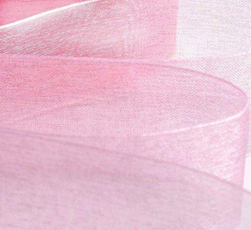 1x 50Meter Rolle Organzaband 2,5cm Zoll/25mm–Pink–46meter/50Meter.... 2kaufen & Get 1Gratis (Over The Top Ii)