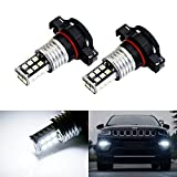 #6: iJDMTOY (2) Xenon White 15-SMD High Power LEDBulbs for 2017-up Jeep Compass Daytime Running Lights