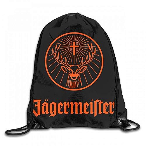 Bixungan Jagermeister Logo Custom Drawstring Shoulder Bags Gym Bag Travel Backpack Lightweight