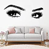 haochenli188 Nouvelles arrivées Big Eye Cils Stickers Muraux Belles Filles Yeux Stickers Art Vinyle Décor À La Maison Salon de Beauté Style Decal Ho 156x56 cm