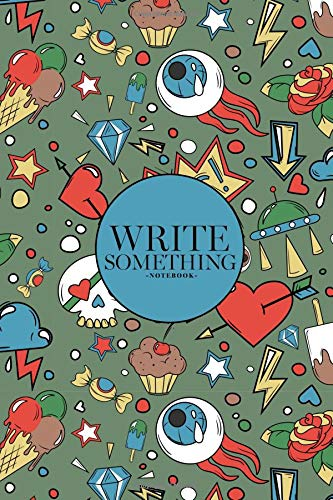 Notebook - Write something: Doodle random objects colored  notebook, Daily Journal, Composition Book Journal, College Ruled Paper, 6 x 9 inches (100sheets)