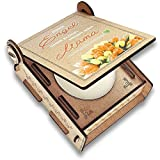 CANDLE in the BOX Geschenk-Box mit Botschaft & Kerze | Geschenk für Mama Zum Geburtstag | Engel Ohne Flügel Nennt Man Mama | Dankeschön für Alles (Orange)