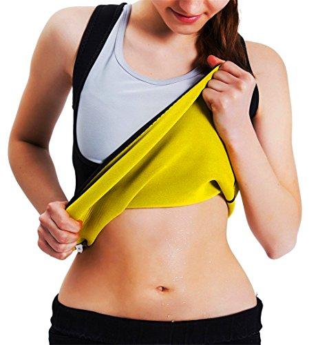 Faja modeladora de neopreno para mujer; sin cremallera, para ejercicio y pérdida de peso, Negro, large