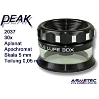 PEAK-Optics Messlupe 2037, 30fach, Skala 0,05 mm