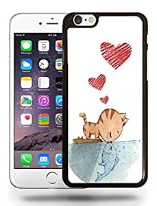 Cute Animal Pet Kitten Pussy Cat Kissing Fish Phone Case Cover Designs for iPhone 6