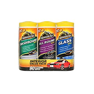 Armor All Triple Pack Wipes Dashboard, All Round & Glass 3 x 30 Wipes