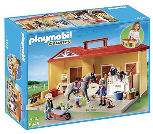 Playmobil 5348 Country Pony Farm Take Along Horse Stable