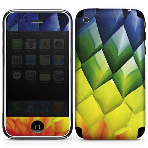DeinDesign Apple iPhone 3Gs Folie Skin Sticker aus Vinyl-Folie Aufkleber Rauten Diamond Colourful