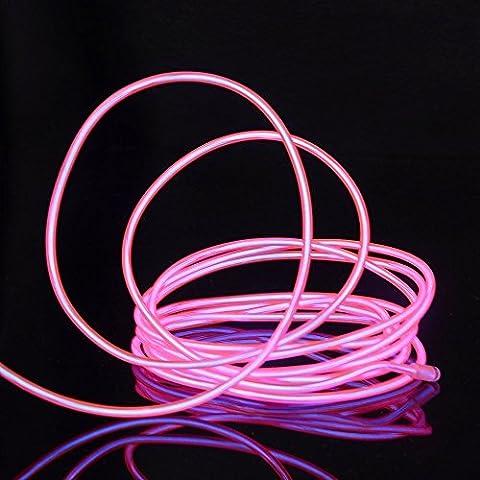 Neon Rose Lumiere - JINQIU 15 pieds 5m Néon Etincelant Electroluminescent