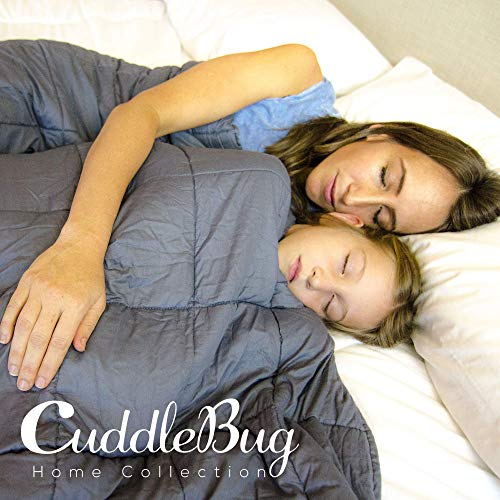 CuddleBug Therapiedecke Gewichtsdecke - Decke für Erwachsene/Jugendliche Für Besseren Schlaf, Größe: 153 x 203 cm, 9 kg