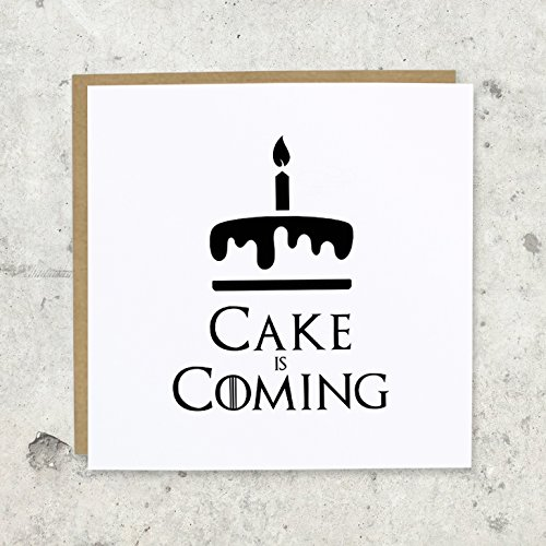 Cake is coming cumpleaños tarjeta de felicitación | Juego de Tronos