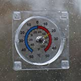 Window dial thermometer