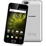 DOOGEE Shoot 2 3G Smartphone (Android 7.0 MT6580A - Quad Core - Écran: 5.0'' HD - 2Go RAM - 16Go ROM - Dual SIM Dual Caméra - Gestes Intelligents OTA) - Argent