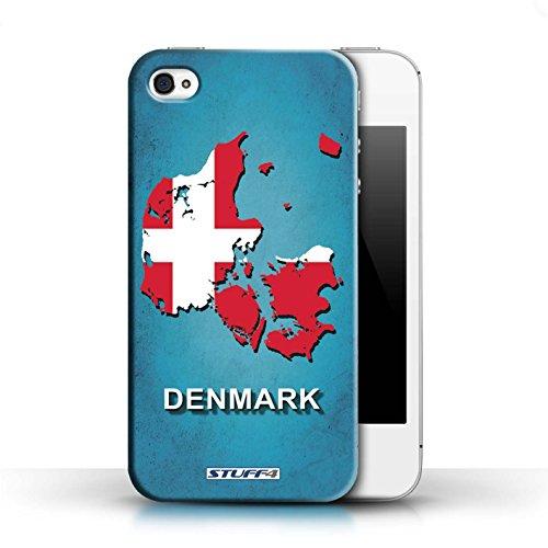 KOBALT® Hülle Case für Apple iPhone 4/4S   Argentinien Entwurf   Flagge Land Kollektion Denmark/Dänemark