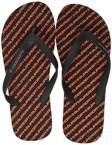 Superdry  International Flip Flop, Herren Zehentrenner, Mehrfarbig (Black/Dark Grey/Hazard Orange I3g),42/43 EU