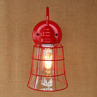Kochfeld-240v (RY Vereinigten Staaten Land Retro-Eisen Wand Lampe rot Glas Kochfeld , 220-240v)