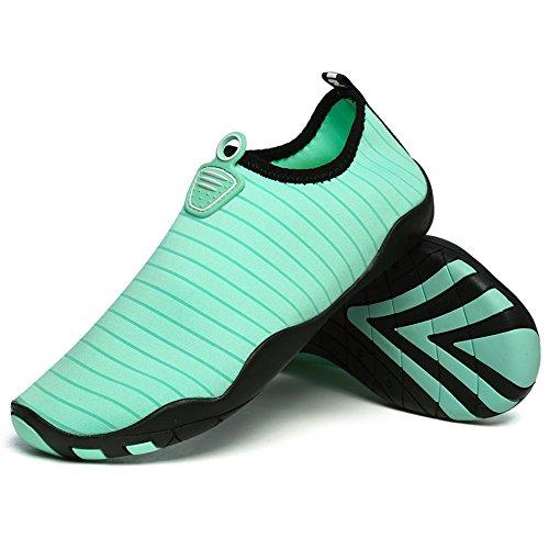 Gaatpot Donna Uomo Estate Scarpe da Spiaggia Immersione Rapida Asciugatura Scarpe Acquatici Surf Yoga Ginnastica Aqua Shoes Verde