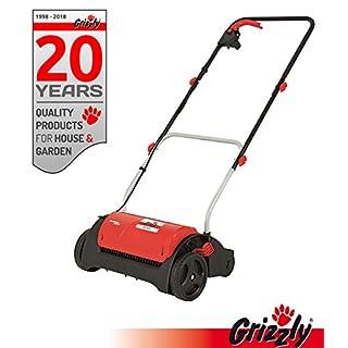 Grizzly Elektro Vertikutierer ES 1231 - Elektrischer Rasen Vertikutierer, Belüfter mit 1200 Watt Motor, 31 cm Arbeitsbreite und klappbaren Griff - zur Garten und Rasenpflege (Vertikutierer)