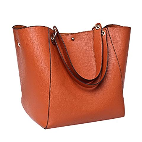 YAAGLE PU Leather Large Totes Shoulder Bag With Removable Inside Hand Bag for Women Girls