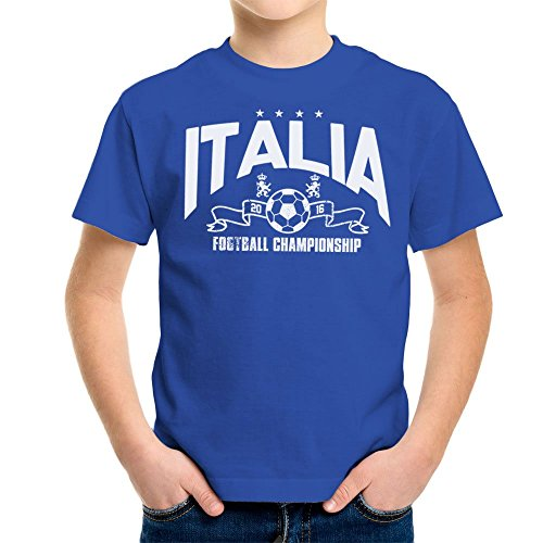 Euro 2016 Football Italy Italia Stars Blue Kid\'s T-Shirt