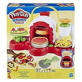 Hasbro Play-Doh-La Pizzeria (playset con 5 vasetti di pasta da modellare), Multicolore, E4576EU4