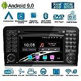 Ohok Android 9.0 autoradio 2 Din Octa Core Stéréo 4G+32G Sat Nav Lecteur DVD Supporte GPS Bluetooth Android Auto Car Play pour Mercedes-Benz ML-W164/W300/ML350/ML450/ML500/GL-X164,7' écran Tactile