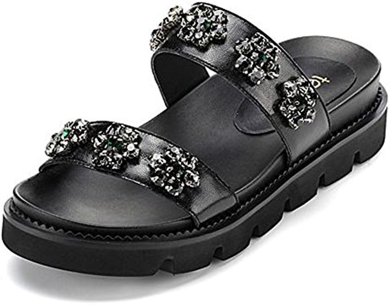 ZZHF Pantofole di diamante diamante diamante di estate Pattini di spessore  di modo Pistoni di piscina e925178d617