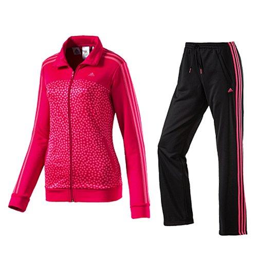 Adidas sweatsuit ESS 3S KT AOP Rosa-Nero D89769
