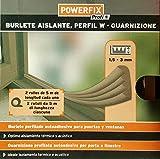 Powerfix Profi Fensterdichtung Gummidichtung W Profil weiß/braun 2x5m selbstklebend (braun)