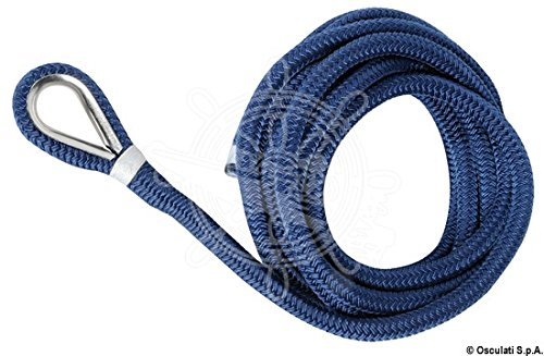 OSCULATI Cima ormeggio impiombata 16 mm x 11 m Blu