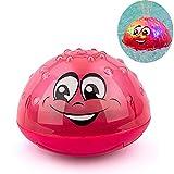 Aokebeey Kinder Schwimmende Badespielzeug Wasserspielzeug mit Licht, Automatische Induktions Sprinkler Babyspiel Wasserbad Spielzeug für Babys Kleinkinder Kinder-Party - Rot