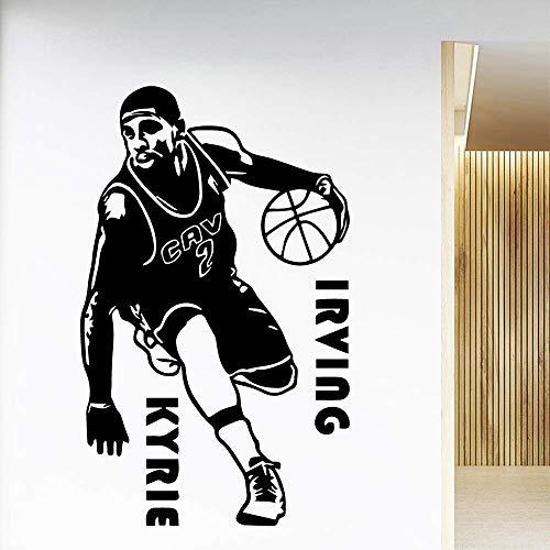Basketball Spieler Schlafzimmer Dekoration Junge Mädchen Kunst Applikation Schwarz M 30Cm X 49Cm