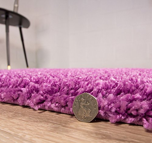 Ontario Long Pile Easy Clean Lilac Shag Rugs - Available in 4 Sizes