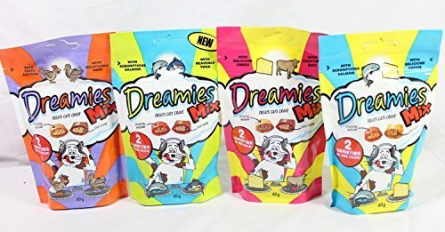 Bulk-Buy-8-packs-of-MIXED-Dreamies-2-of-each-flavour-see-which-one-your-cat-or-kitten-loves-the-most-Save-on-postage-by-bulk-buying-8-x-60g-bags-480g-total