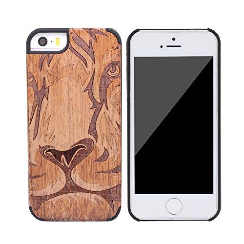 SunSmart Apple iPhone 5/5s cas Bois peau de couverture de protection pour iPhone 5 5s--12 13
