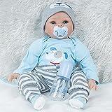 ERBEIOU Realistische Mädchen Reborn Realistische Mädchen Babypuppen Hübsche Puppe Weich Baby Weichkörper 21 Zoll Spielpuppe Schöne Realistische Süße Junge Mädchen Spielzeug