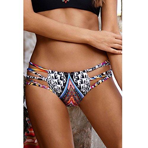 Sitengle Damen Bikinis Multicolour Push up Paisley Bademode Badeanzüge Bathing Suit Ethnischen Tauchanzug Hot Bikini Farbe3