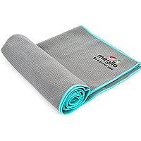 Meglio antideslizante toalla de Yoga, 186cm x 60cm–Super absorbente de microfibra secado rápido–perfecto para yoga y pilates–incluye bolsa de transporte