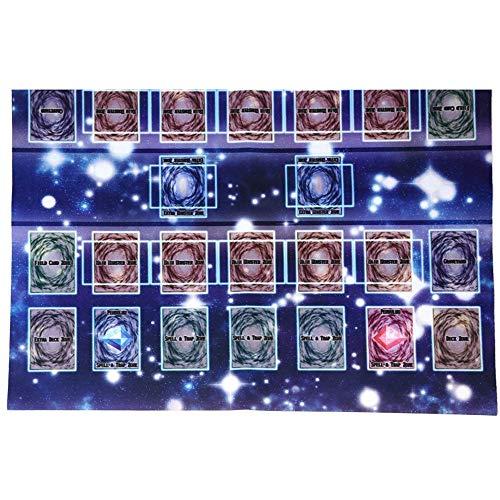 HKFV 60x60cm Gummi Spielmatte Galaxy Style Competition Pad Spielmatte für Yu-Gi-Oh-Karte Mat Game King Zubehör Card Game Pad -