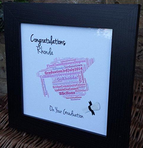 Graduazione Wordart stampa rosa tema