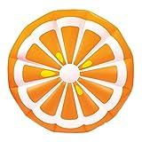 XXL Luftmatratze Orange Slice Schwimmtier Spielzeug - Robuste und Aufblasbare Orangen Scheibe Stück, Badespaß Pool, Strand, Meer