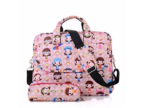 Laptoptasche 13 Zoll Smeil Mädchen Shockproof Tablet Laptoptasche Handtasche Computer Umhängetaschen für Frauen Tragbare Laptop-Tasche