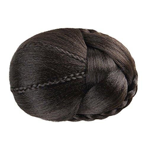 Kostüm Hausgemachte Frauen Halloween - Perücken❤️❤️Vovotrade Haar geflochten Perücke Bun Platte Haar für Abendkleid Party, Kostüm, Karneval, Halloween, Aprilscherz, Maskerade (Brown)