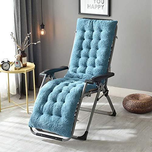 AINIYUE Sitzkissen für Komfort, Liege-Schaukelstuhl-Matte, Feste Lange Plüsch-Liegestuhl-Auflage, Rattan-Stuhl-Sofakissen, für Feiertags-Geburtstags-Geschenke 130x50x12cm blau - Leder-plüsch-kissen Liege