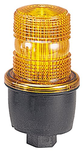 Federal Signal LP3P-012-048A Streamline Low Profile Strobe Light, Pipe Mount, 12-48 VDC, Amber by Federal Signal Low-profile-strobe Light
