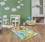 Keymura Moderner Teppich mit schönem Druck/Design Safari   Größe: 160x230 cm - Qualität, Design, Modern zu einem Hammerpreis! Für Kinderzimmer, Wohnzimmer, Flur, Schlafzimmer geeignet!