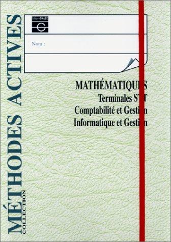 Mathématiques, terminale STT comptabilité gestion, élève