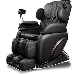 Massagesessel Elektrisch, CRAVOG Verstellbar Medizinischer Massagestuhl für Relax mit Transportrollen, Farbwahl (Schwarz)
