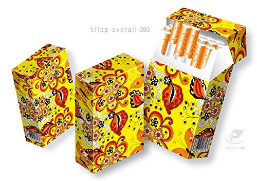 Zigarettenetui Komplettüberzieher für L-Schachteln SLIPP OVERALL Design: Flowerpower mit Blumen und Schmetterlingen (080 Flowerpower) (Kostüme Aus Der Schachtel)