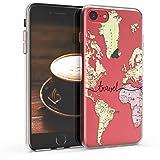 kwmobile Coque Apple iPhone 7/8 - Coque pour Apple iPhone 7/8 - Housse de téléphone en Silicone Noir-Multicolore-Transparent